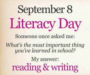 school, true, and literacy day image