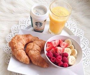 banana, strawberry, and breakfast image