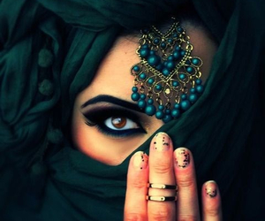 arabic, eyes, and hijab image