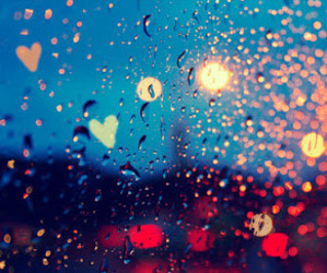 rain, light, and heart image