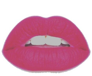 overlay, lips, and pink image