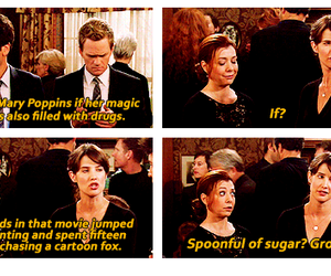 how i met your mother, funny, and Mary Poppins image