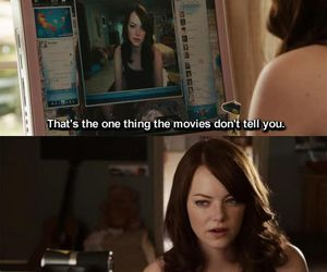 desk, easy a, and emma stone image