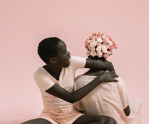 body, girls, and flowers image