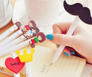 pen and mustache image
