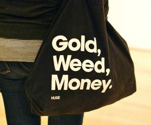 bag, girl, and gold image