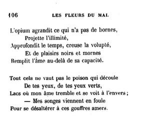 baudelaire, Mal, and Fleurs image