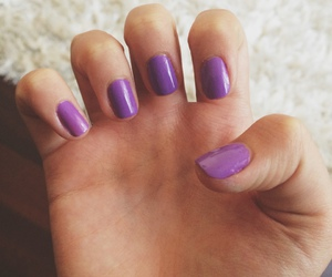 nails, purple, and ultra violet image