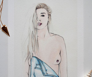 art, etsy, and girl image