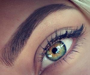eyes, girl, and brow image