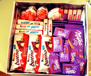 chocolate, milka, and kinder image