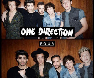one direction, four, and Harry Styles image