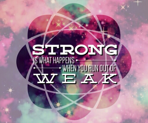 galaxy, quote, and strong image