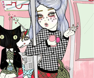 valfre, art, and cat image