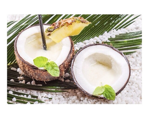 coconut, pineapple, and refreshing image