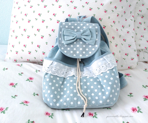 blue, bag, and bow image