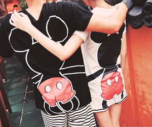 couple, love, and mickey image
