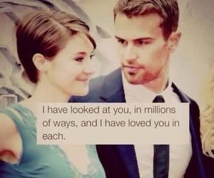 love, divergent, and couple image