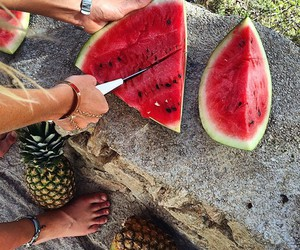 watermelon, fruit, and summer image
