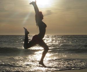 beach, elegant, and sunset image