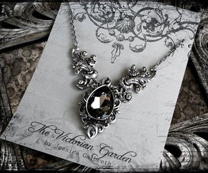 beautiful, necklace, and the victorian garden image