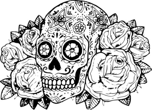 Skull Coloring Pages For Adults And Girls Enjoy Coloring