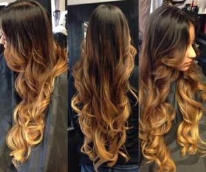 dip dye, hairstyle, and long hair image