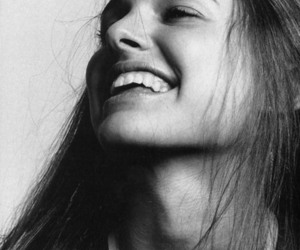 natalie portman, smile, and black and white image