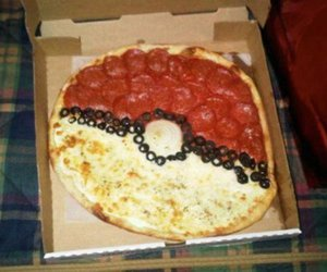 art, pizza, and pokemon image