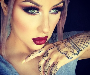 makeup, beauty, and henna image