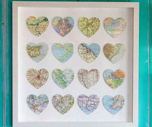 hearts, landscape, and map image
