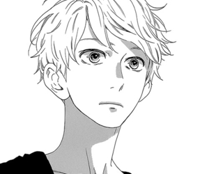manga, boy, and monochrome image