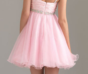 prom dress, short dress, and pink dress image