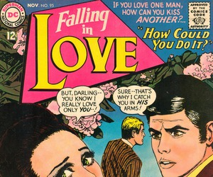 comic, falling in love, and pop art image