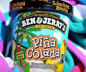 ice cream, pina colada, and summer image