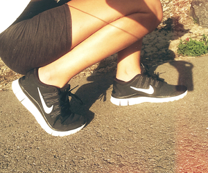 nike, sport, and fit image