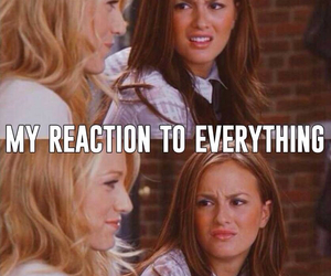 reaction, gossip girl, and blair waldorf image