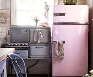 kitchen, love, and pink image