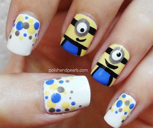nails, minions, and blue image