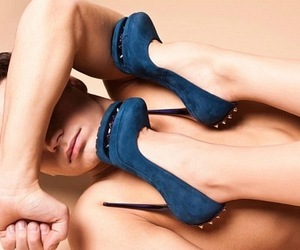 blue, girl, and heels image