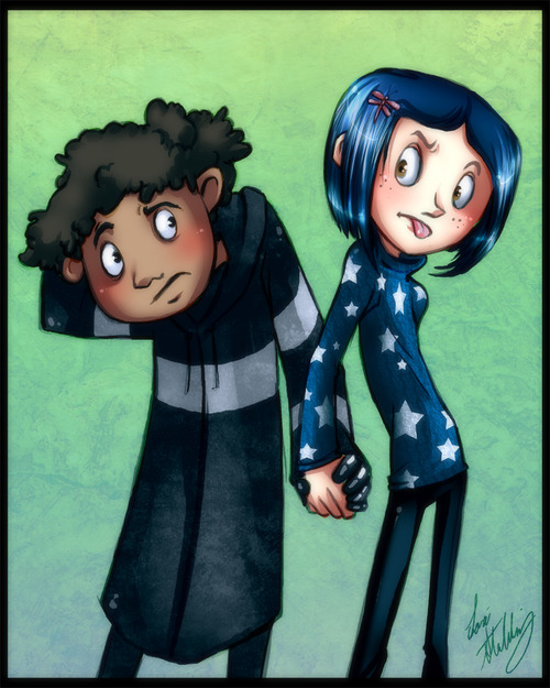 Image About Fanart In Coraline X Wybie Or Coraline Over All By Hey Helga Forever Arnold X Helga Forever