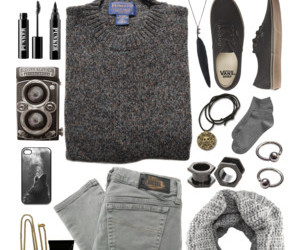 awesome, grey, and outfit image