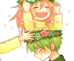 happy tree friends, flower crowns, and flippy and flaky image