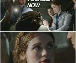 funny, lydia, and werewolf image