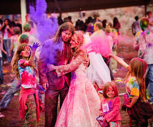 bride, wedding, and colorful image