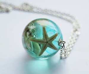 necklace, jewelry, and mermaid image