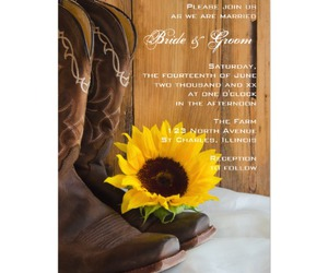 cowboy boots, rustic, and sunflower image