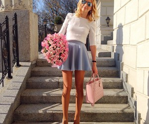 fashion, outfit, and roses image