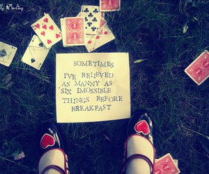 alice in wonderland, cards, and shoes image