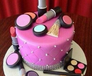 cake, make up, and pink image
